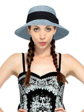 c39effb0974be Product Image AbbyLexi Women s Lovely Classy Bowtie Accent Straw Bucket Hat  sun Visor