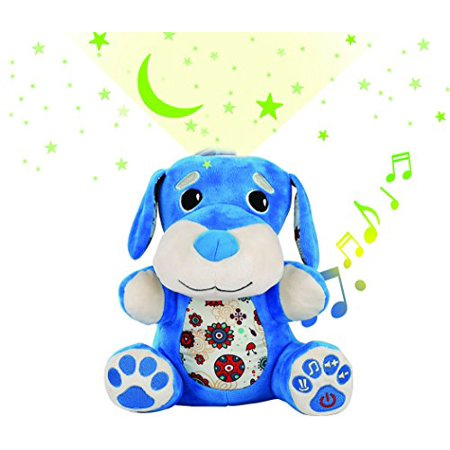 Stella Baby Projector Soother Sound Machine  Nursery Music With 6 Pacifying Lullaby Tones  Infant Shusher  Perfect Sleeping Aid System   Blue