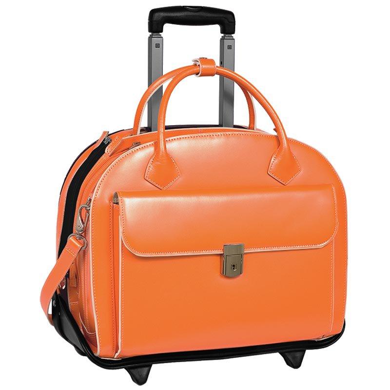 McKlein USA Glen Ellyn 2-in-1 Removable-Wheeled Briefcase