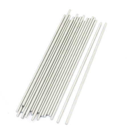 Unique Bargains 20 Pcs Rc Toy Car Frame Round Stainless Steel Straight Rods Axles 3Mmx160mm