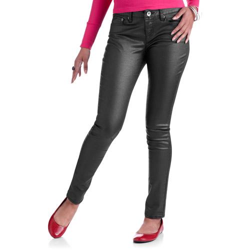 No Boundaries Juniors Coated Skinny Jeans