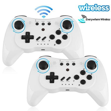 EEEKit Pro Controller for Nintendo WiiU 2-Pack, Bluetooth Wireless Dual Analog Pro Controller Joystick Gamepad for Nintendo Wii U