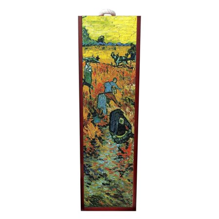 Artist Vincent Van Gogh's Red Vineyards Painting Wine Box Rosewood with Slide Top - Wine Box Holder - Wine Case Decoration - Wine Case Wood - Wine Box