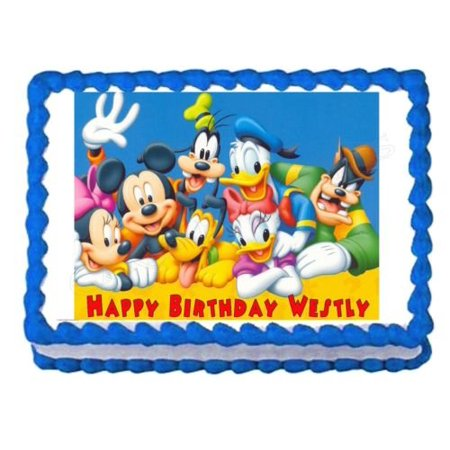 MICKEY MOUSE CLUBHOUSE Edible Frosting Image Cake Topper* - Mickey Mouse Birthday Cake Pan