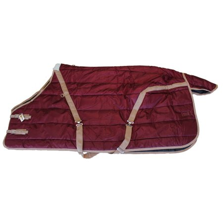 Horse Winter Stable Blanket Heavy Weight 420D 400G fill Quilted Burgundy Size - Stable Blanket