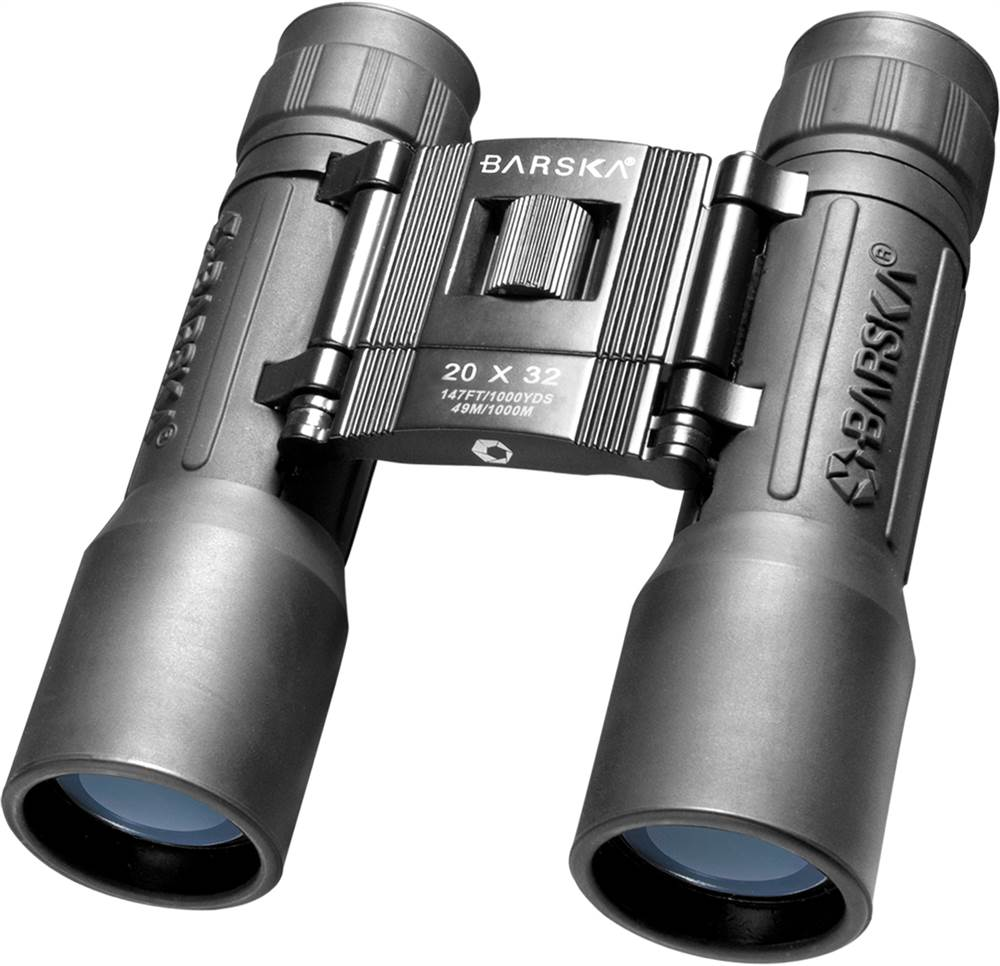 Lucid View Compact Binocular in Black w Blue Lens 20 x 32