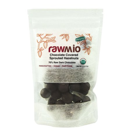Windy City Organics Rawmio Chocolate Covered Sprouted Hazelnuts -- 2 oz pack of - Windy City Sweets