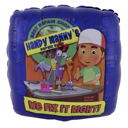 Handy Manny ' We Fix it Right' Foil Mylar Balloon (1ct) - Handy Manny Party Treat