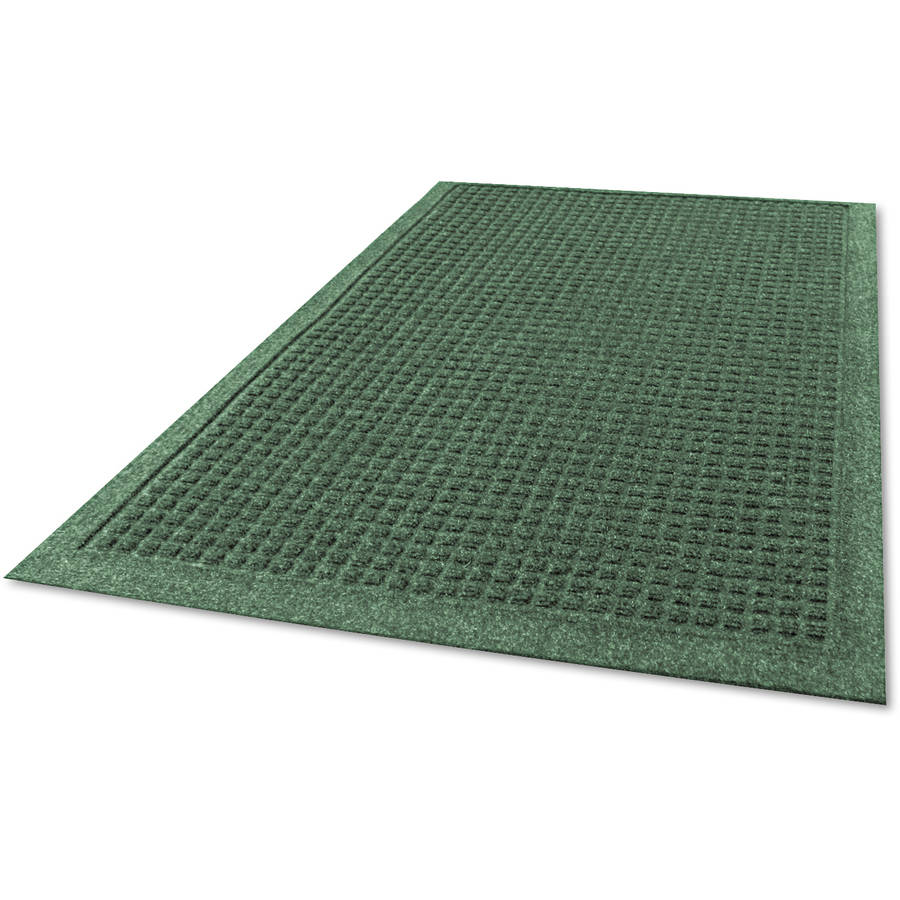 Guardian Ecoguard Indoor Rubber Wiper Mats, 36 X 60, Charcoal