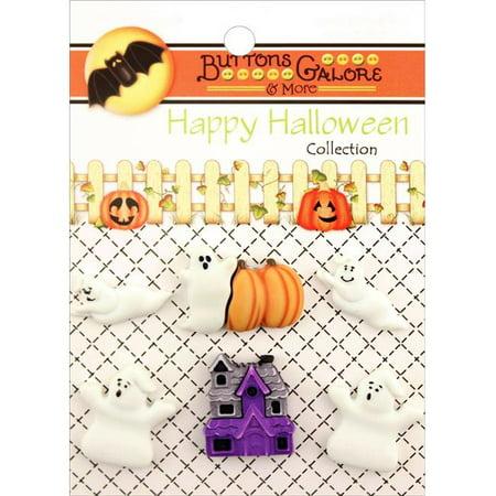 Buttons Galore Halloween Buttons 6/Pkg-Boo Buddies](Halloween Buttons)