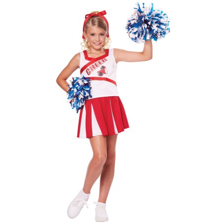 High School Cheerleader Girls Costume - Costume School Girl