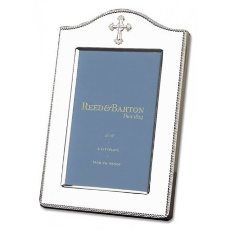 Reed & Barton Abbey Collection Tarnish Resistant Silver-plated Cross 4-by 6-Inch Picture Frame ()