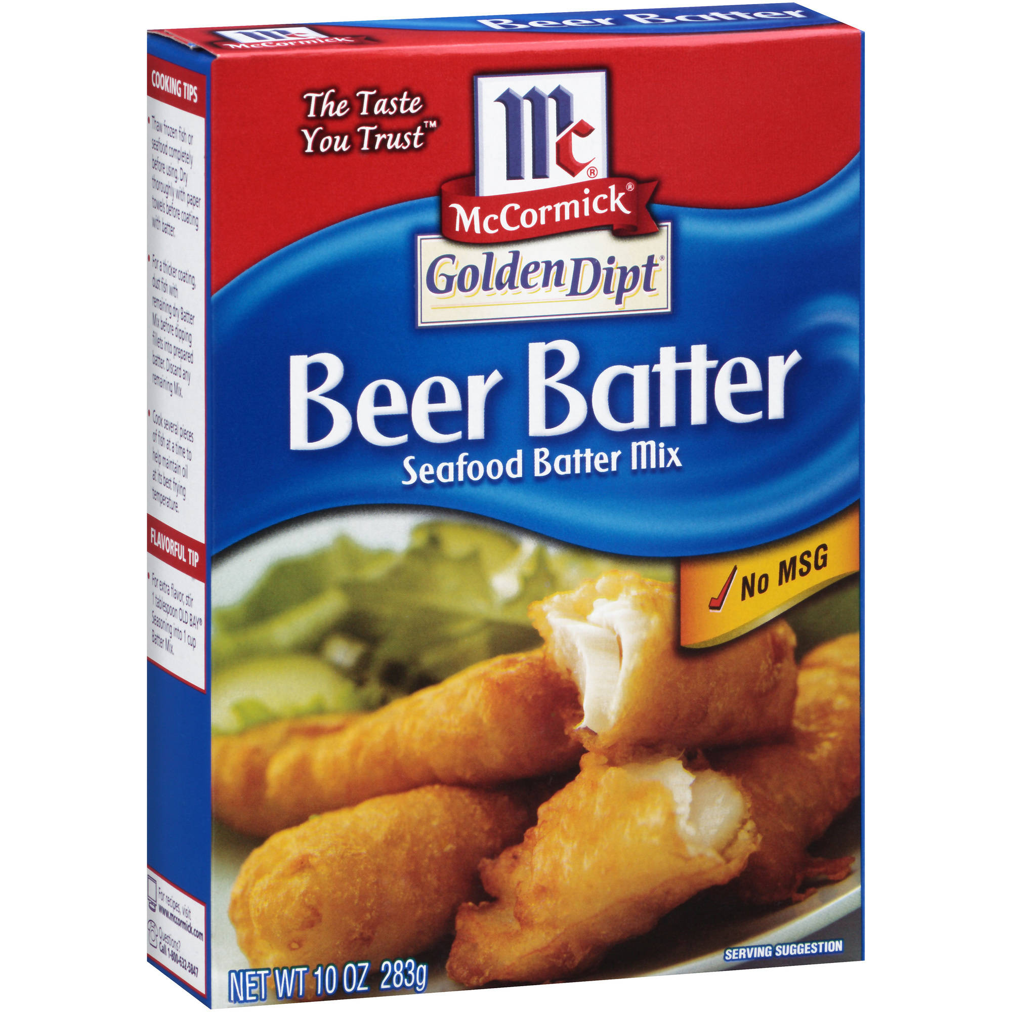 McCormick Golden Dipt Beer Batter Seafood Batter Mix, 10 oz