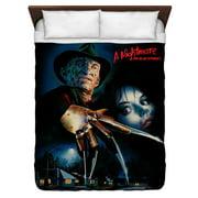 Nightmare On Elm Street Freddy Poster Queen Duvet Cover White 88X88