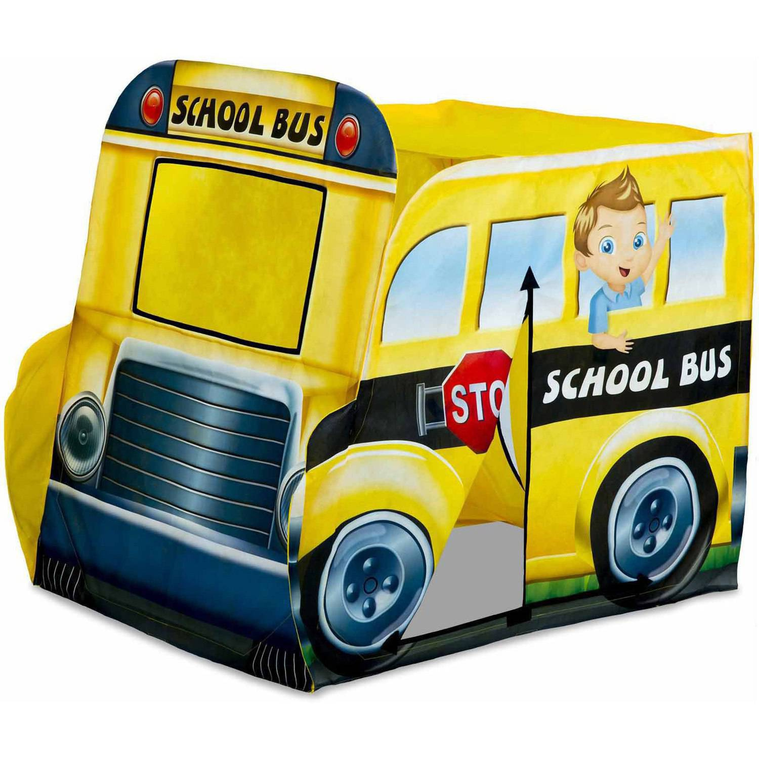 Playhut Yellow School Bus Pop-Up Tent