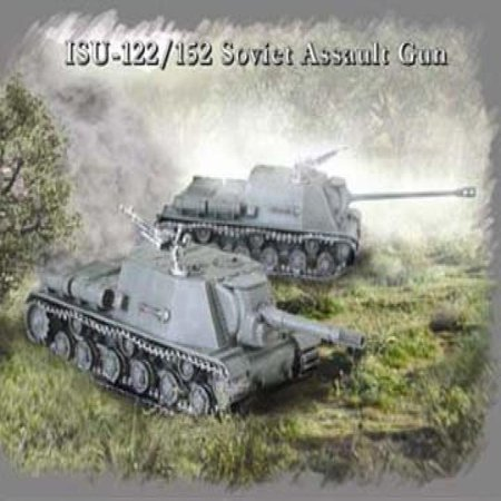ISU122/152 Soviet Assault Gun Tanks (2) Snap Kit 1-72