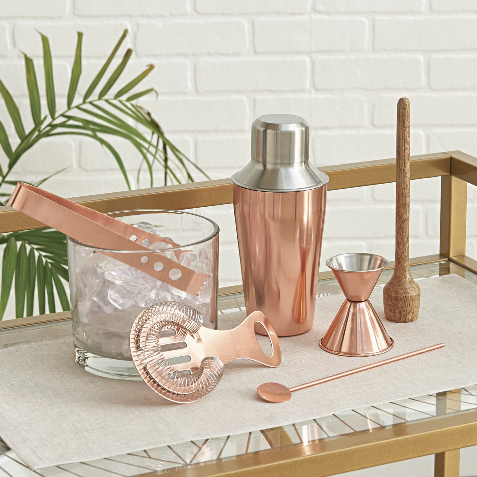 Better Homes and Gardens 6-Piece Copper Bar Set