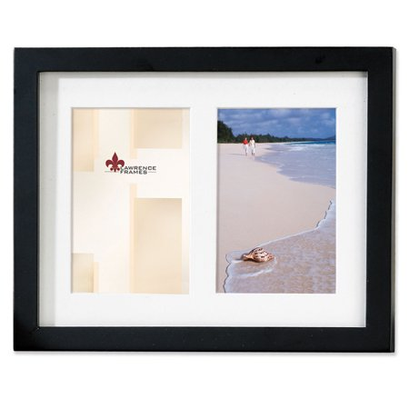Black Wood Double 5x7 Matted Picture Frame