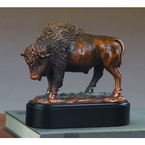 Marian Imports F53202 Buffalo Bronze Plated Resin Sculpture by Treasure of Nature