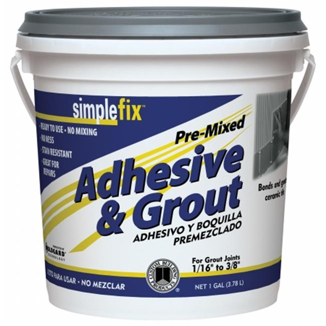 Custom Building Products TAGW1-2 1 Gallon White Pre Mixed Adhesive & Grout - Pack of 2
