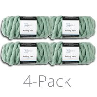 Mainstays 26 yd. Roving Yarn, Green Sage, 100% Acrylic, Pack of 4