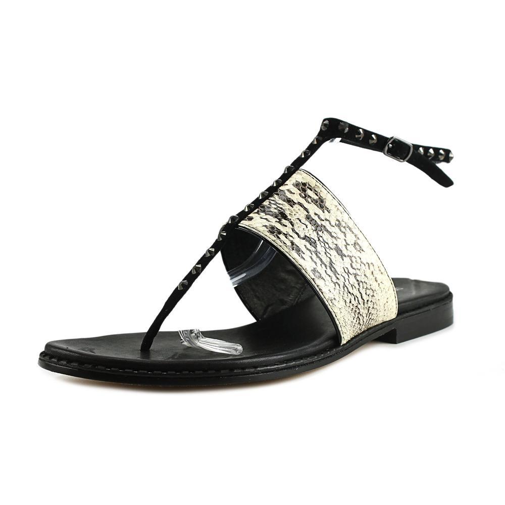 Donald J Pliner Lacy Women Open Toe Leather Ivory Thong Sandal by Donald J Pliner