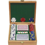 Trademark Poker 100 13g Professional Clay Casino Chips with Beautiful Solid Oak Case