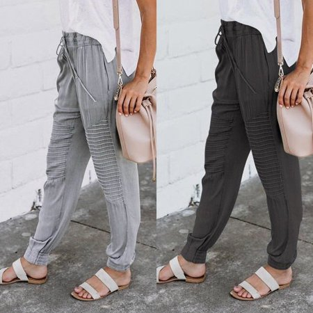 Women Jogger Dance Sportwear Baggy Harem Pants Casual Slacks Trousers Sweatpants ()