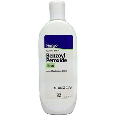 Perrigo Benzoyl Peroxide Wash, 8 oz (Benzoyl Peroxide Body Wash)