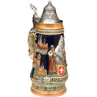 Beer Mug by King Switzerland And Landmarks Full Relief German Beer Stein (Beer Mug) 0.5l by King Werke Germany