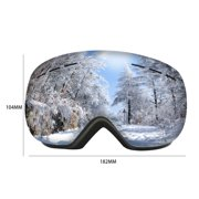 Snow Goggles Double Layers Frameless Anti-fog UV Protection Snowboard Eyewear Ski Goggles for Men Women Outdoor Sport