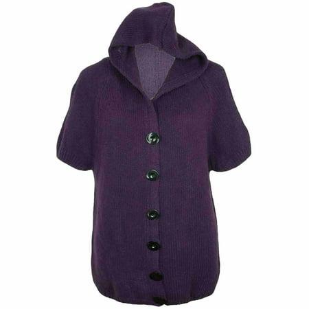 f2646b0260 Annabelle - Luxury Divas Short Sleeve Hooded Heavy Knit Sweater ...