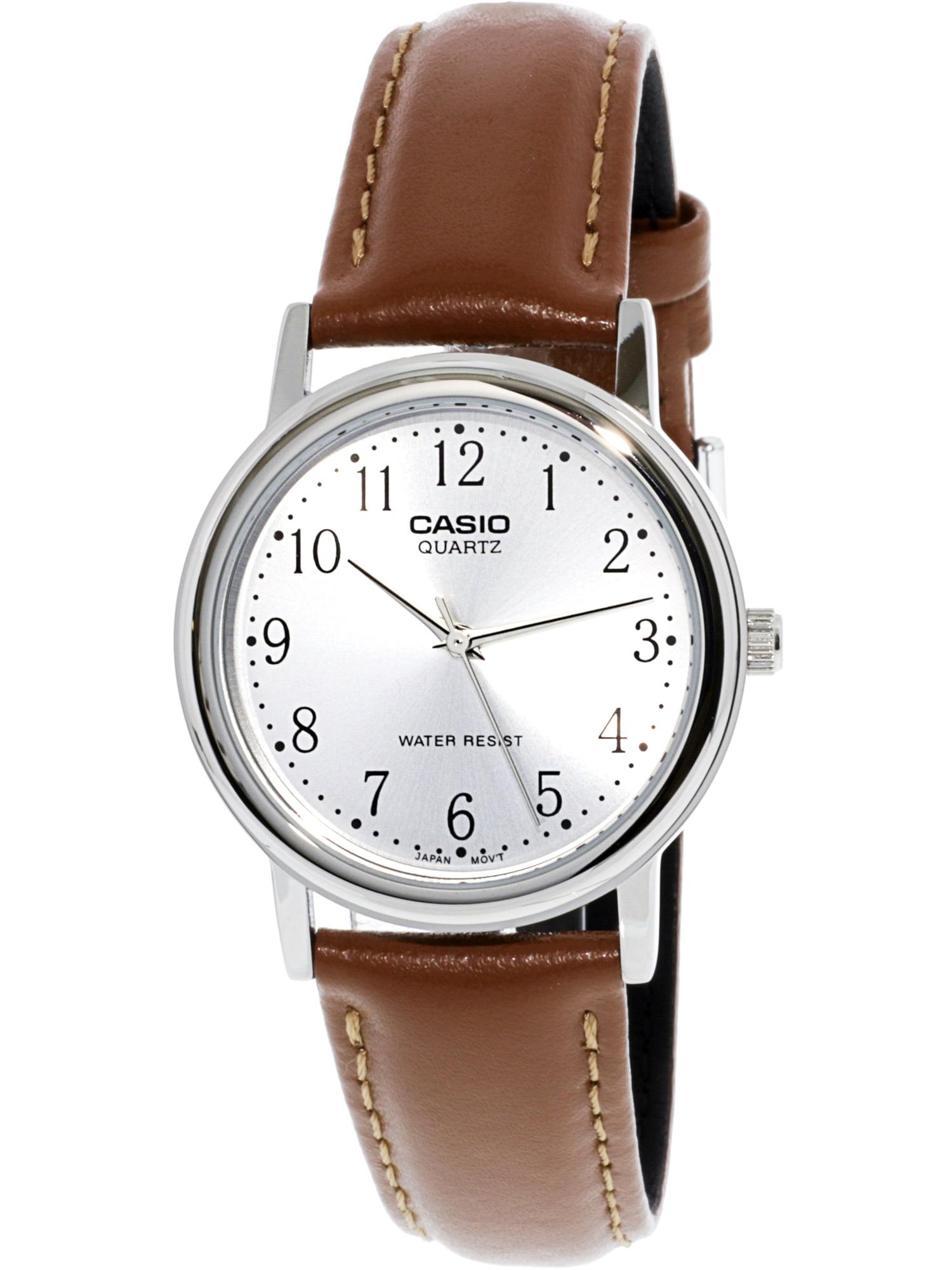Men's Core MTP1095E-7B Silver Leather Quartz Fashion Watch