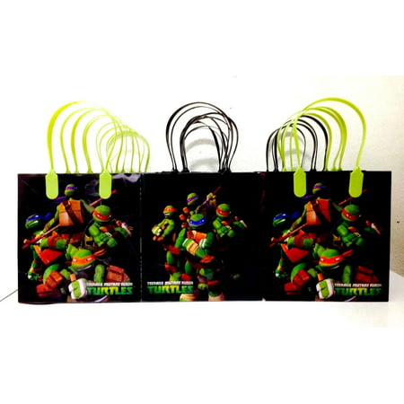 Ninja Turtles Party Favor Goodie Small Gift Bags (12 Packs) - Ninja Turtles Favors