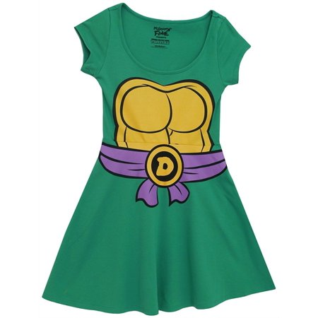 Teenage Mutant Ninja Turtles Juniors Green Costume Skater Dress