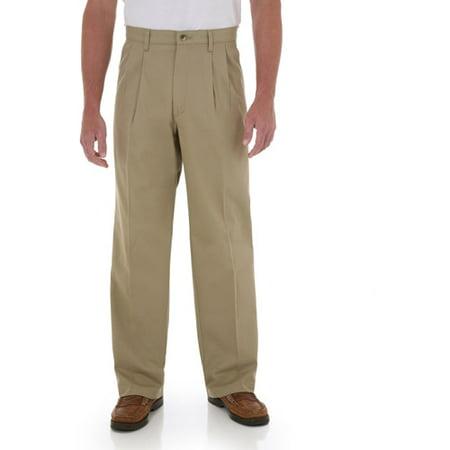 97f6097e3cd Wrangler - Men's Comfort Series Pleated Pants - Walmart.com