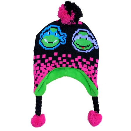 5ffae6e43 Teenage Mutant Ninja Turtles Girls Pink Peruvian Style Stocking Cap Winter  Hat