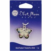 Blue Moon Metal Pendant, 1pk, Butterfly