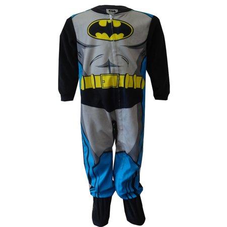 American Marketing Enterprises INC - DC Comics Batman Fleece Footie One  Piece Toddler Pajamas - Walmart.com 578a2309e
