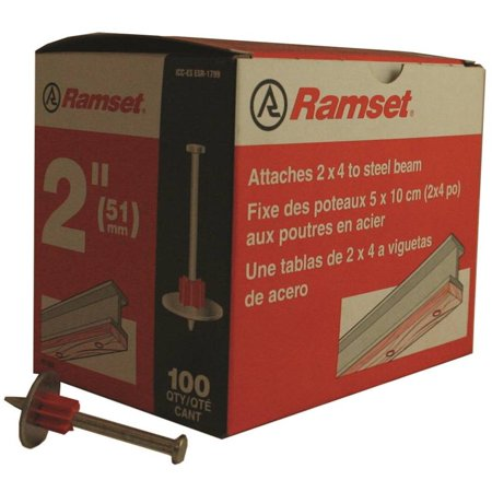 ITW Ramset 1514SD Drive Pins, .300 Headed - With Premounted Washer, 2 Inch Lgth