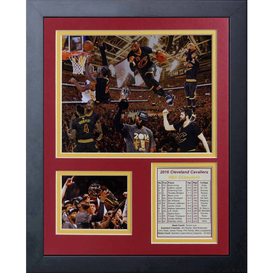 """Legends Never Die Cleveland Cavaliers 2016 NBA Champions Collage Framed Photo Collage, 11"""" x 14"""""""