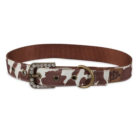- Brown Cowhide Print Custom Fit Dog Collar, Brown cowhide print By MuttNation Fueled by Miranda Lambert