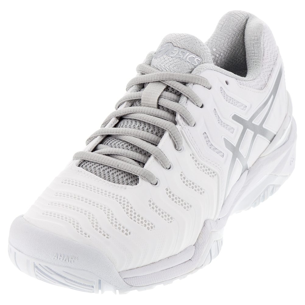 Asics Men`s Gel-Resolution 7 Clay Tennis Shoes White and ...
