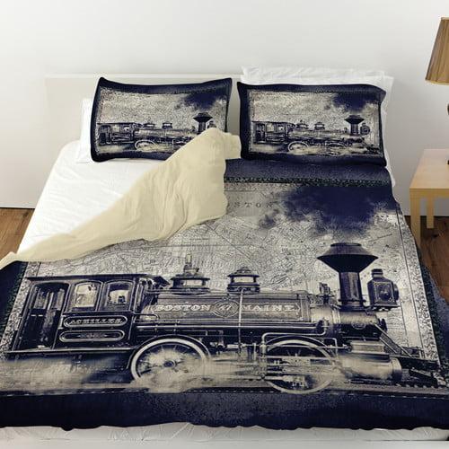 Manual Woodworkers & Weavers Railway Beantown Duvet Cover
