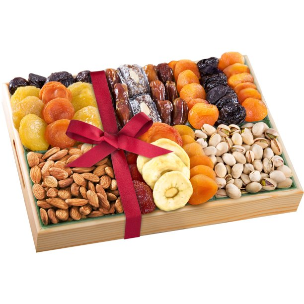 Golden State Fruit Gourmet Deluxe Dried Fruit and Nut Assortment Gift Set, 20 oz