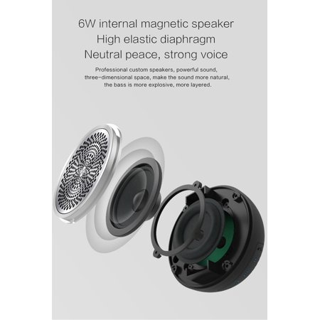 Y5 Speaker Wireless BT Stereo Sound Speaker Portable Outdoor Bass Mini Column Box Loudspeaker for Travel Work PC Smartphone Computer - image 1 of 7