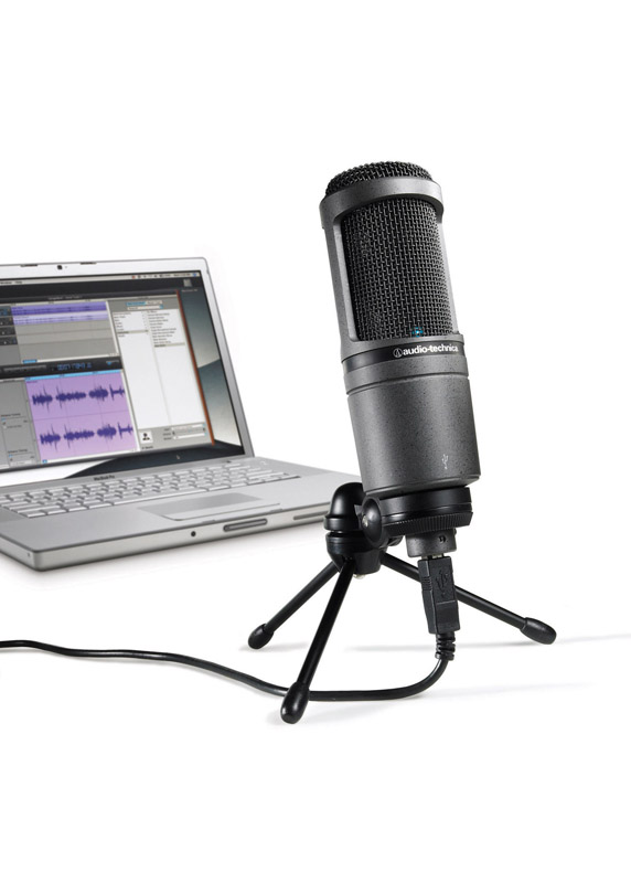 Audio Technica AT2020 USB Cardioid Condenser Microphone by