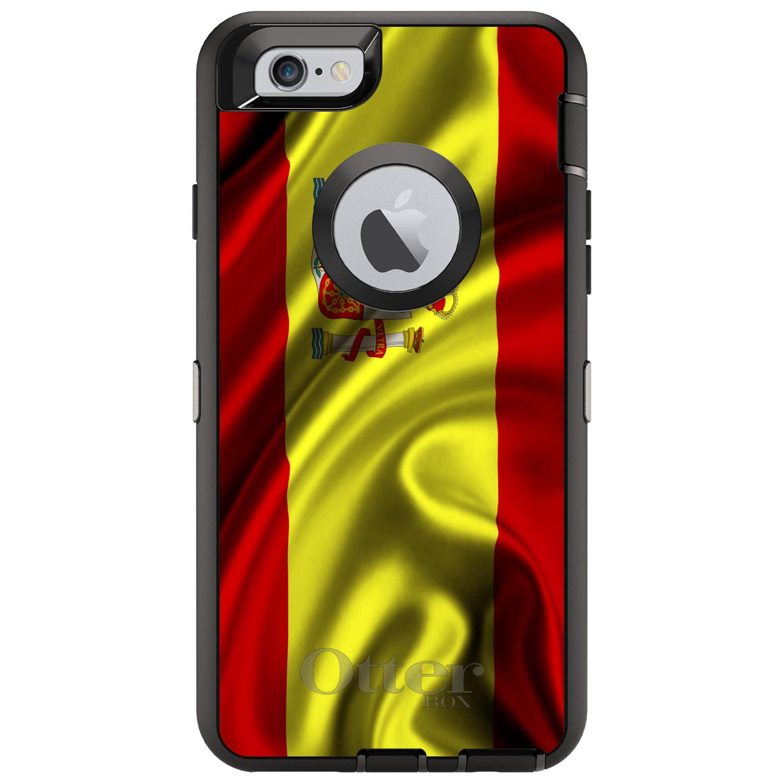 DistinctInk Custom Black OtterBox Defender Series Case for Apple iPhone 6   6S...