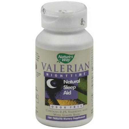 Nature's Way valériane Nightime comprimés, 100 CT