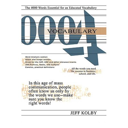 Vocabulary 4000 : The 4000 Words Essential for an Educated Vocabulary (4000 English Words Essential)